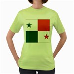 Flag_Panama Women s Green T-Shirt
