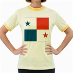 Flag_Panama Women s Fitted Ringer T-Shirt