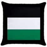 Flag_Palestine Throw Pillow Case (Black)