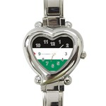 Flag_Palestine Heart Italian Charm Watch