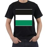 Flag_Palestine Black T-Shirt (Two Sides)