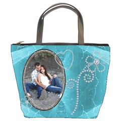 Pretty Blue Bucket Bag By Lil    Bucket Bag   Yxdtguryefp1   Www Artscow Com Front