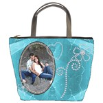 Pretty Blue Bucket Bag