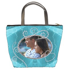 Pretty Blue Bucket Bag By Lil    Bucket Bag   Yxdtguryefp1   Www Artscow Com Back