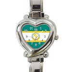 Flag_Org Heart Italian Charm Watch