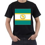 Flag_Org Black T-Shirt (Two Sides)