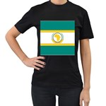 Flag_Org Women s Black T-Shirt (Two Sides)