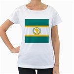 Flag_Org Maternity White T-Shirt