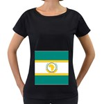 Flag_Org Maternity Black T-Shirt