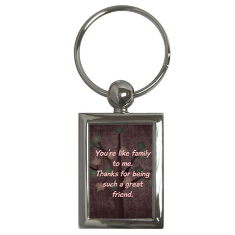 Harmony Family Friend Keychain By Bitsoscrap   Key Chain (rectangle)   Pdz23hw7mbym   Www Artscow Com Front