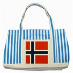 Flag_Norway Striped Blue Tote Bag