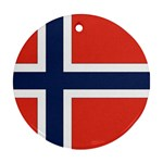 Flag_Norway Round Ornament (Two Sides)
