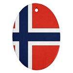 Flag_Norway Oval Ornament (Two Sides)