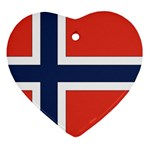 Flag_Norway Heart Ornament (Two Sides)
