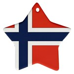 Flag_Norway Star Ornament (Two Sides)