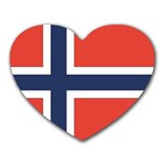 Flag_Norway Mousepad (Heart)