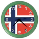 Flag_Norway Color Wall Clock