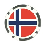 Flag_Norway Poker Chip Card Guard (10 pack)