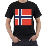 Flag_Norway Black T-Shirt
