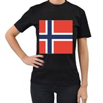 Flag_Norway Women s Black T-Shirt