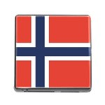 Flag_Norway Memory Card Reader with Storage (Square)