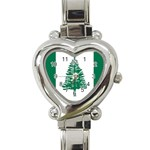 Flag_Norfolk Island Heart Italian Charm Watch