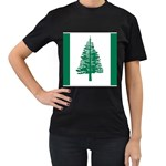 Flag_Norfolk Island Women s Black T-Shirt (Two Sides)