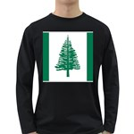 Flag_Norfolk Island Long Sleeve Dark T-Shirt