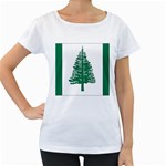 Flag_Norfolk Island Maternity White T-Shirt