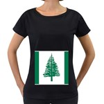Flag_Norfolk Island Maternity Black T-Shirt