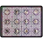 Art Nouveau Purple Lace Extra Large Fleece Blanet - Fleece Blanket (Large)