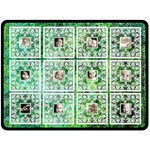 Art Nouveau green Lace Extra Large Fleece Blanet - Fleece Blanket (Large)