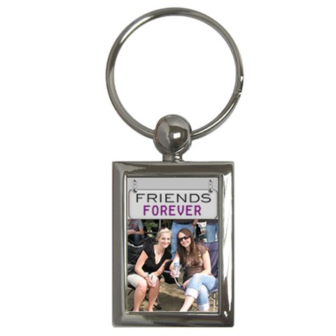 Friends Forever Key Chain By Lil    Key Chain (rectangle)   7kug6p8961ur   Www Artscow Com Front
