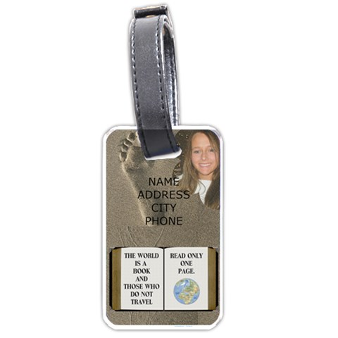 Travel Luggage Tag By Lil    Luggage Tag (one Side)   Lpxxsity6g4z   Www Artscow Com Front