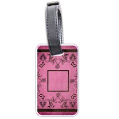 Pink Lace Luggage Tag By Catvinnat   Luggage Tag (two Sides)   C527d3ep1kmf   Www Artscow Com Front