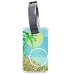 Tropical Vacation  Luggage Tag By Catvinnat   Luggage Tag (two Sides)   85ddhqvdci0b   Www Artscow Com Front