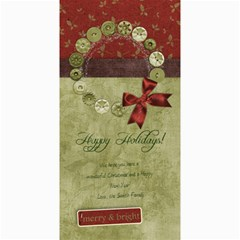 4x8 Verticle Happy Holidays Wreath Card By Mikki   4  X 8  Photo Cards   Mw9bp7f9gbpc   Www Artscow Com 8 x4  Photo Card - 1