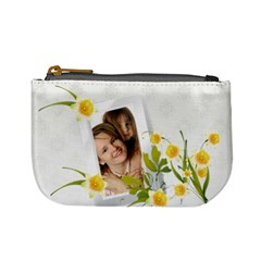 Flower Coin Bags By Wood Johnson   Mini Coin Purse   Qxagliqaem5l   Www Artscow Com Front