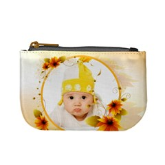 Flower Baby By Wood Johnson   Mini Coin Purse   Uj0d11y94zmc   Www Artscow Com Front