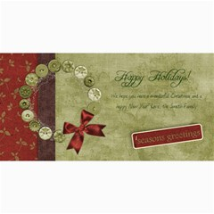 4x8 Horizontal Holiday Wreath Card By Mikki   4  X 8  Photo Cards   87dxgq0cp1pg   Www Artscow Com 8 x4 Photo Card - 3