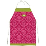Pink & Green Monogram Full Design Apron - Full Print Apron