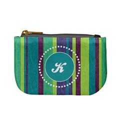 Stripes Monogram Mini Coin Purse By Klh   Mini Coin Purse   Mb75icei72nt   Www Artscow Com Front
