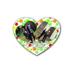 coaster_love1 - Rubber Heart Coaster (4 pack)
