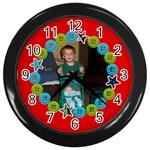 Bright fun Picture clock - Wall Clock (Black)