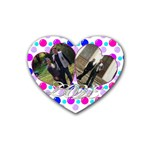 coaster_love3 - Rubber Heart Coaster (4 pack)