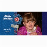 Holiday 4x8 card-Merry Snowflake verticle - 4  x 8  Photo Cards