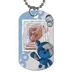 Baby Blue   Tag By Carmensita   Dog Tag (two Sides)   E4q2lrte092c   Www Artscow Com Front