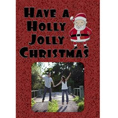 Holly Jolly Christmas Card By Lil    Greeting Card 5  X 7    Ni6mwzzgiqit   Www Artscow Com Front Cover