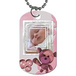 Baby pink - TAG - Dog Tag (Two Sides)