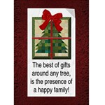 Happy Family Christmas Card - Greeting Card 5  x 7